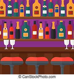 Background of bar counter. - Background of bar counter with...