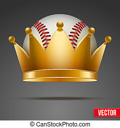 Background of Baseball ball with royal crown - Background of...
