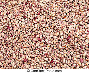 background of beans for sale in the vegetable market