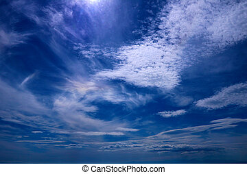Background of beautiful blue sky with white clouds.