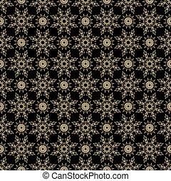 Background of beautiful golden pattern seamless