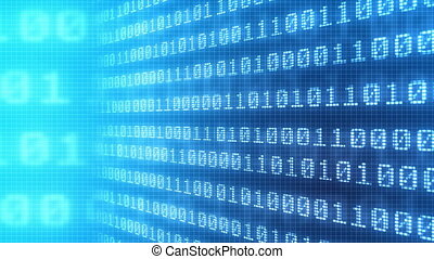 Background of binary code numbers