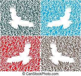 Background of bird predator