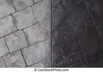Background of black and white brick wall texture.
