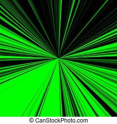background of black green sunburst - digital high resolution