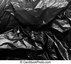 background of black plastic bag
