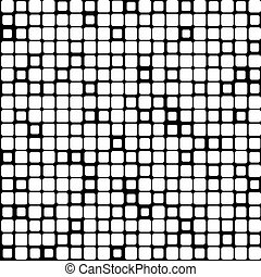 Background of black white mosaic