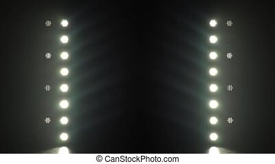 Background of blinking light bulbs - Background of flashing...