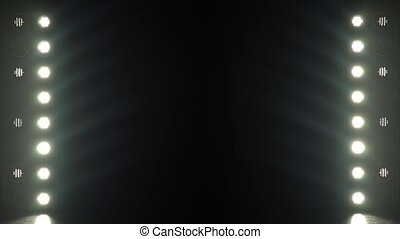Background of blinking light bulbs
