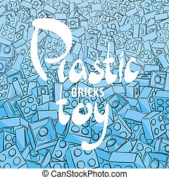 Background of blue plastic constructor