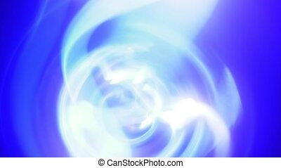 Background of blue purple lightning and plasma glowing loop