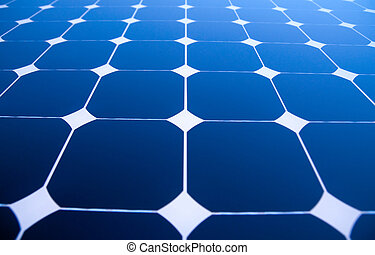 Solar Panels - Background of Blue Solar Panels