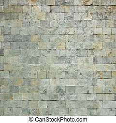Background of blue stone wall texture photo
