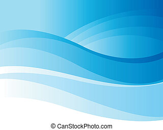 Background of blue wave