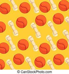 background of bones dog and balls toys
