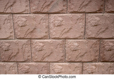 Background of brick wall texture. red cement block