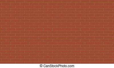Background of brick wall that moves from top to bottom