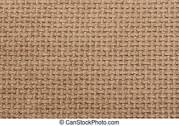 Background of brown fabric texture, close-up.