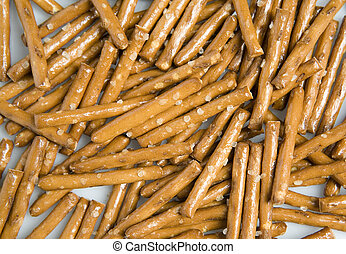 Background of brown salty crackers