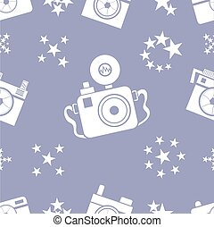 Background of camera icon. Flat design style vector illustration.