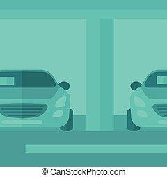 Background of car shop.