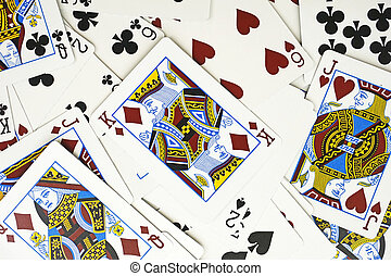 background of cards with King card on the top