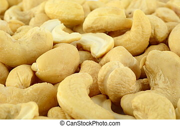 Background of cashew nuts