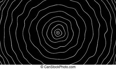 Background of circular waves. Seamless loop 4k 60fps footage