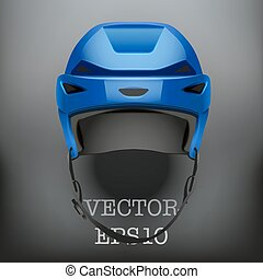 Background of Classic blue Ice Hockey Helmet