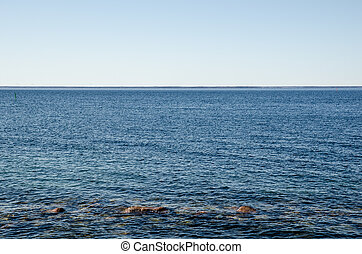Background of clear blue water