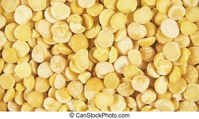Background of clockwise rotating grain cereals top view -...