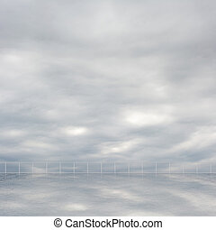 Background of clouds