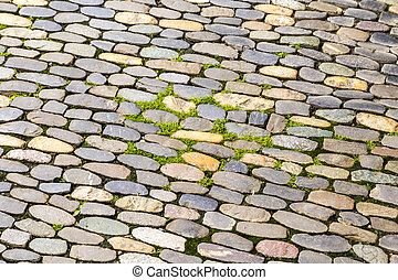 background of cobblestone pavement - Abstract background of...