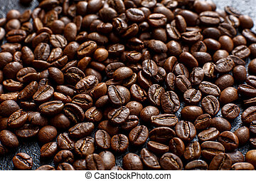background of coffee beans close-up