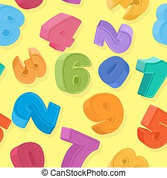 Background of colored numbers. Seamless pattern numbers for...