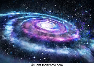 Background of colorful galaxy in the universe space