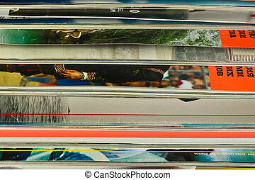Background of colorful magazines