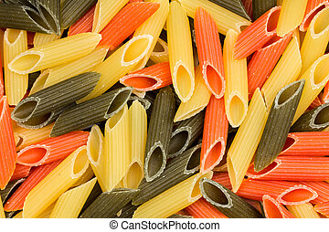 Background of colorful pasta as texture
