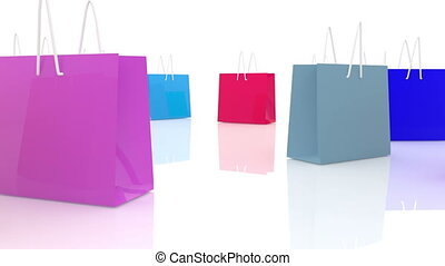 Background of colorful shopping bags