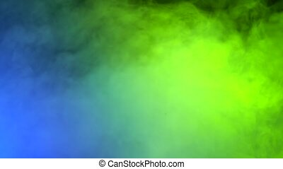 Background of colorful smoke at the concert