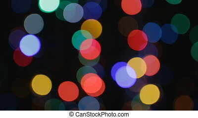 Background of colour lights with bokeh effect