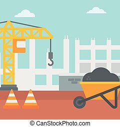 Background of construction site.