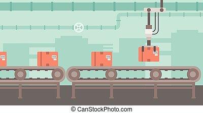 Background of conveyor belt. - Background of conveyor belt...