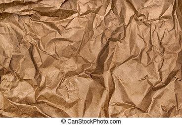 background of crumpled kraft paper