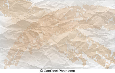 background of crumpled paper with stains