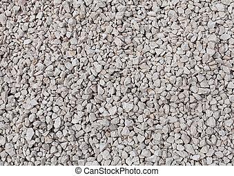 background of crushed stone close up