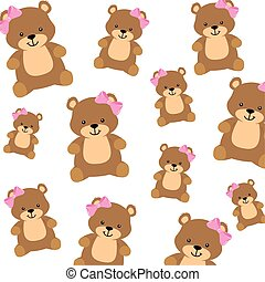 background of cute teddy bears female