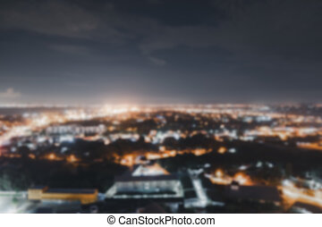 Background of defocused lights of city at night.