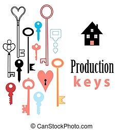 background of different keys