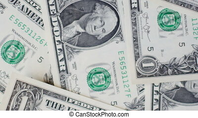 Background of dollar bills. UltraHD video of money background